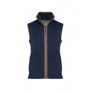 Alan Paine Aylsham Men's Fleece Gilet Dark Navy