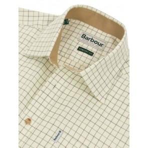 Barbour Field Tattersall Shirt Green/Brown