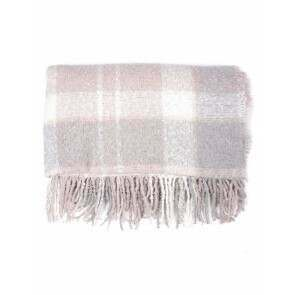 Barbour Tartan Boucle Scarf Soft Pink