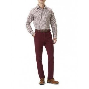 Barbour Traditional Fit Moleskin Trousers Oxblood