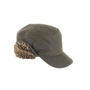 Barbour Stanhope Wax Trapper Hat Olive