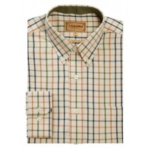 Schoffel Brancaster Shirt Dark Olive/Brick