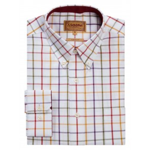 Schoffel Brancaster Wide Check Shirt Red/Purple/Mustard/Olive