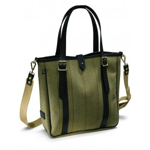 Croots Helmsley Tweed Medium Tote Bag Green