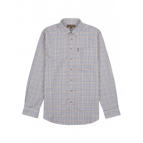 Musto Classic Button Down Check Shirt Keldy Blue