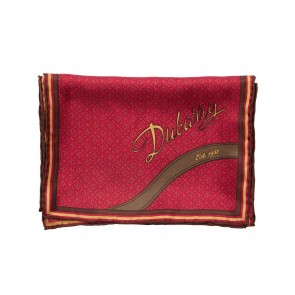 Dubarry Carnew Silk Scarf Red Brown Multi