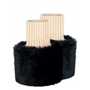 Dubarry Carton Faux Fur Cuffs Black