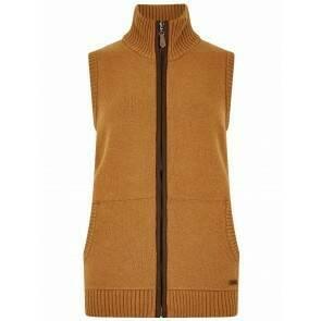 Dubarry Sheedy Cosy Knit Bodywarmer Amber