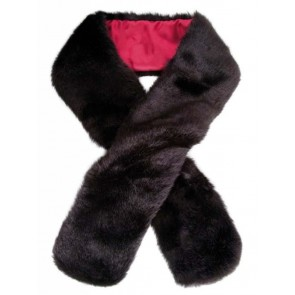 Dubarry Faux Fur Scarf Black