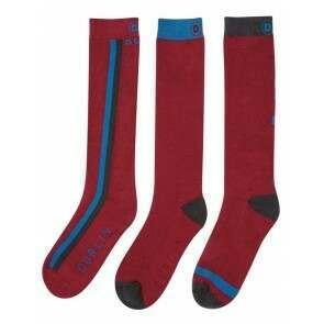 Dublin Classic Socks 3 Pack Crimson