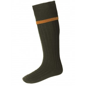 House of Cheviot Estate Field Socks Spruce/Ochre