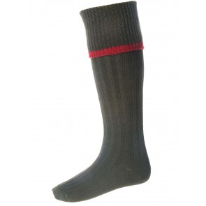 House of Cheviot Estate Field Socks Spruce/Brick