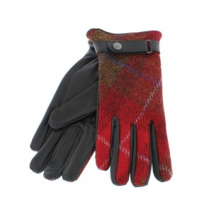 Failsworth Ladies Harris Tweed/Leather Gloves HT22