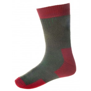 House of Cheviot Glen Tech Sock Spruce/Brick Red