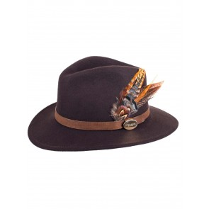 Hicks and Brown The Gamebird Suffolk Fedora Brown