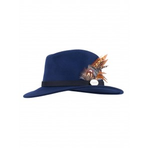 Hicks and Brown The Gamebird Suffolk Fedora Navy
