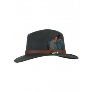 Hicks and Brown The Classic Suffolk Fedora Olive Green