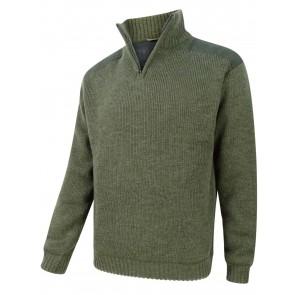 Hoggs of Fife Hebrides Zip-Neck Windproof Pullover Loden