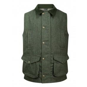 Hoggs of Fife Helmsdale Tweed Waistcoat Green