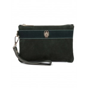 Hicks and Brown Chelsworth Clutch Bag Olive Green