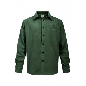 Hoggs of Fife Highlander Micro Fleece Shirt Dark Olive