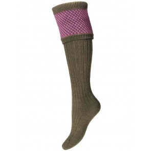 House of Cheviot Lady Tayside Shooting Socks Dark Olive