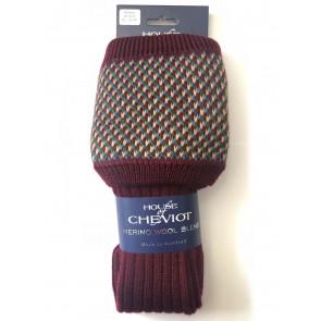 House of Cheviot Tayside Shooting Socks Burgundy