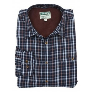 Hoggs of Fife Microfleece Lined Shirt Bark