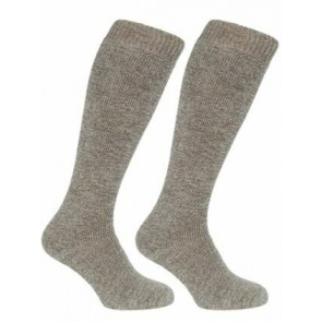 Long Welly Sock (Twin Pack) Light Brown