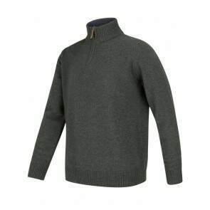 Hoggs of Fife Lothian 1/4 Zip Pullover Indigo
