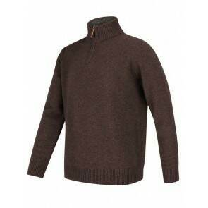 Hoggs of Fife Lothian 1/4 Zip Pullover Redwood