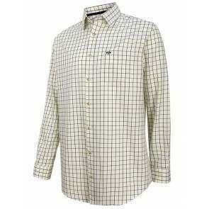 Hoggs of Fife Balmoral Luxury Tattersall Shirt Navy/Wine