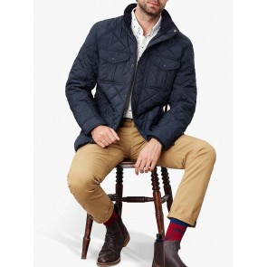 Joules Layfield Waterproof Quilted Jacket Navy