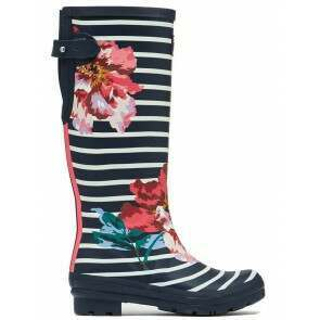 Joules Welly Navy Floral Stripe