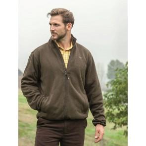 Hoggs of Fife Kelso Prestige Knitted Jacket Marled Green