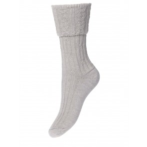 House of Cheviot Lady Lothian Oatmeal Socks