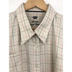 Laksen Ladies Tattersall Shirt Blue/Pink Check