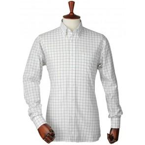 Laksen British Racing Green Arthur Oxford Check Shirt