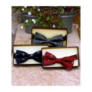 Laksen Pheasant Bow Tie Woven Silk
