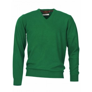 Laksen Yates V Neck Field Green