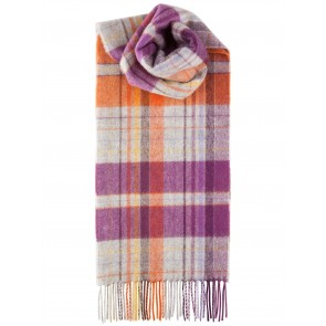 Out Of The City Lambswool Block Weft Multi Check Scarf