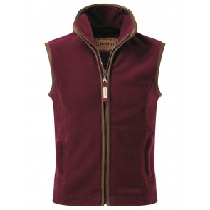 Schoffel Little Lyndon Kids Fleece Gilet Ruby