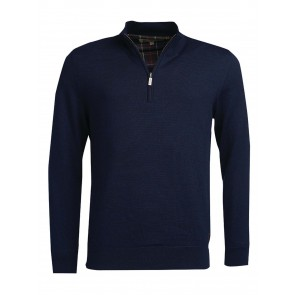 Barbour Gamlan Waterproof Half Zip Pullover Navy