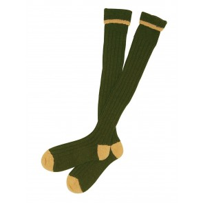 Barbour Contrast Gun Stockings Olive and Gold