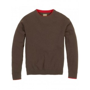 Musto Shooting Crew Neck Knit Rich Brown