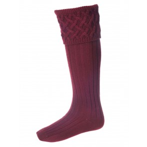 House of Cheviot Rannoch Sock Burgundy