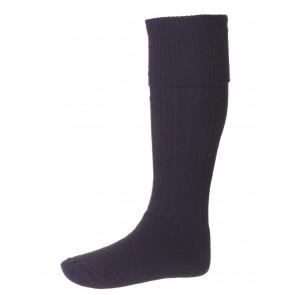 House of Cheviot Scarba Cushion Foot Socks Navy