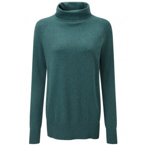 Schoffel Cotton Cashmere Turtle Neck Kingfisher