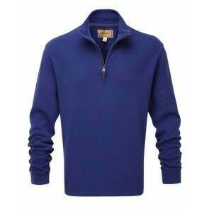 Schoffel Cotton French Rib 1/4 Zip Jumper Marine
