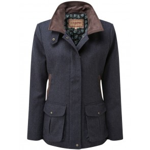 Schoffel Lilymere Jacket Navy Herringbone Tweed
